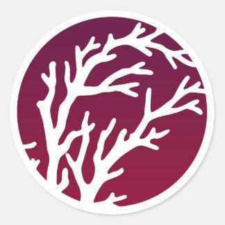 Cream Wheels Tree Classic Round Sticker