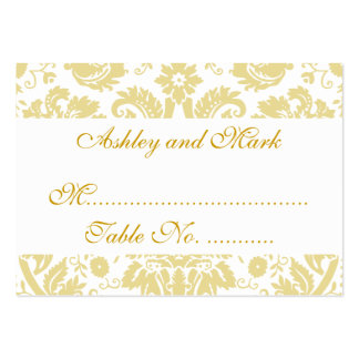 Cream White Damask Wedding Reception Place Cards Pack Of Chubby Business Cards