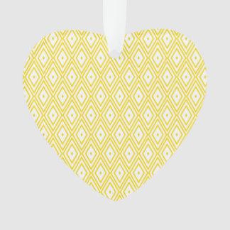 Cream Yellow and White Diamond Pattern