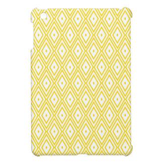 Cream Yellow and White Diamond Pattern Cover For The iPad Mini