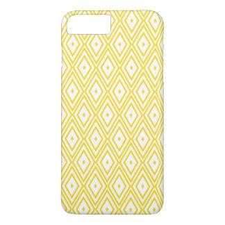 Cream Yellow and White Diamond Pattern iPhone 7 Plus Case