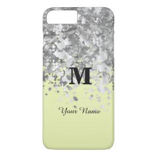 Cream yellow glitter personalized monogram iPhone 7 plus case