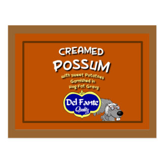 Creamed Possum Recipe Card Postcard
