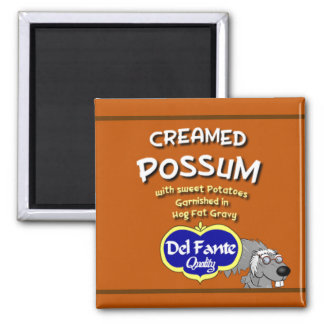 Creamed Possum soup can label magnet