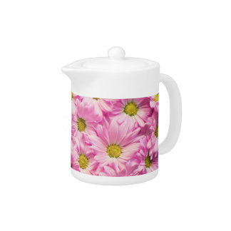 Creamer/Teapot - Pink Gerbera Daisies