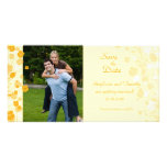 Creamsicle floral save the date wedding photocard customised photo card