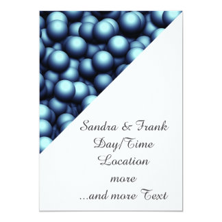 "Creamy Bubbles,blue 5"" X 7"" Invitation Card"
