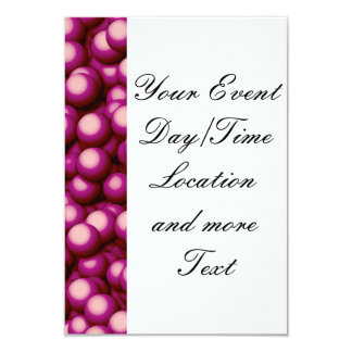 "Creamy Bubbles,hot pink 3.5"" X 5"" Invitation Card"