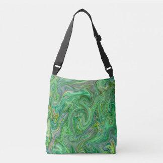 creamy Colors,green Crossbody Bag