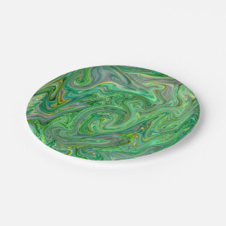 creamy Colors,green Paper Plate