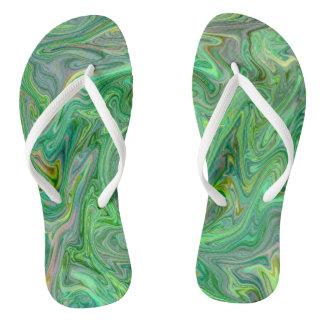 creamy Colors,green Thongs