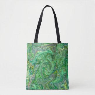 creamy Colors,green Tote Bag