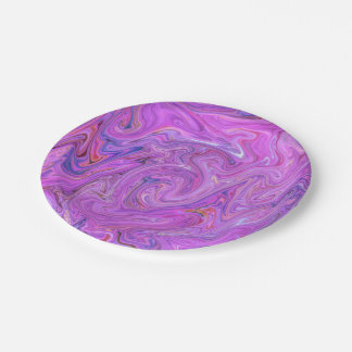 Creamy Colors,pink Paper Plate