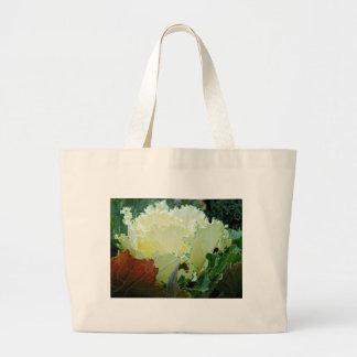 Creamy Fracas Large Tote Bag
