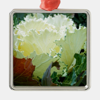 Creamy Fracas Silver-Colored Square Decoration