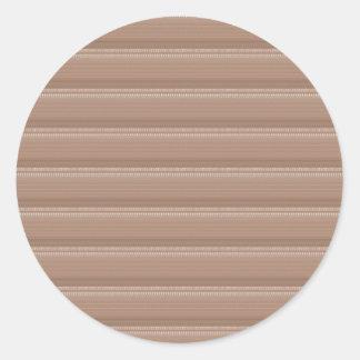 Creamy Groov Pattern  NVN303 FUN DECO shades glow Round Sticker