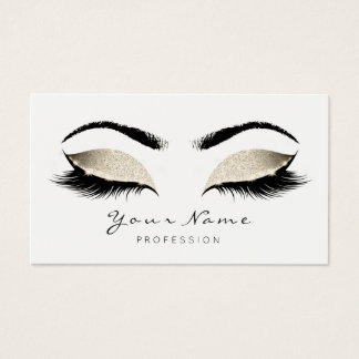 Creamy Ivory Makeup Artist Lashes Beauty Studio Business Card