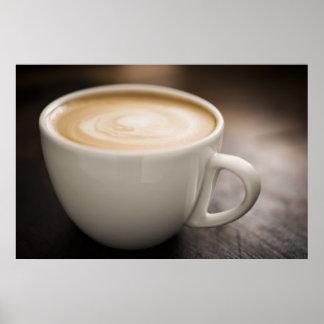 Creamy Latte Coffee Poster