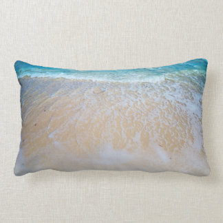 Creamy Ocean Water On The Beach Lumbar Cushion