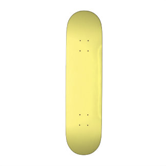 Creamy Pale Pastel Butter Yellow Solid 20 Cm Skateboard Deck