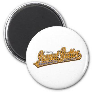 Creamy Peanut Butter 6 Cm Round Magnet