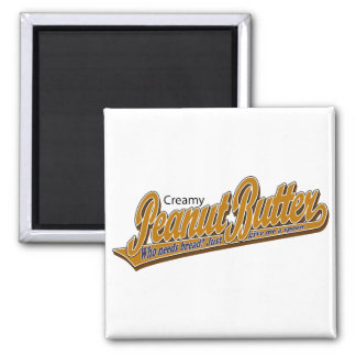 Creamy Peanut Butter Square Magnet