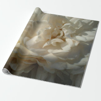 Creamy White Roses Painting Wrapping Paper
