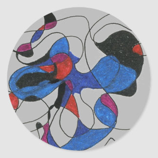"""Creapy Crawlies"" Abstract Design Sticker"