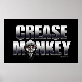 Crease Monkey (Chrome) Poster