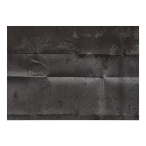 Creased Grungy Black Background Card