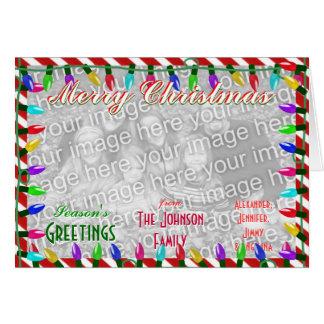 Create a custom Merry Christmas Family Photo Greeting Card