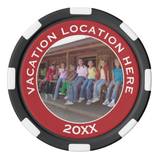 Create A Vacation Souvenir with Photo and Text Poker Chips