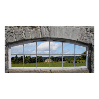 Create an Arched Window Effect with Rural View Poster