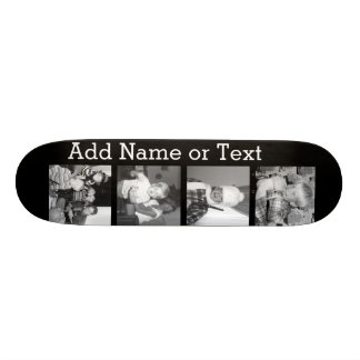 Create an Instagram Collage with 4 photos - black 21.3 Cm Mini Skateboard Deck
