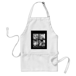 Create an Instagram Collage with 4 photos - black Standard Apron