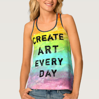 Create Art Every Day Painterly Tank Top