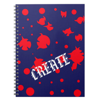 Create: Blues and Reds Collection Notebook