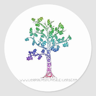 Create Color Tree Lines Classic Round Sticker