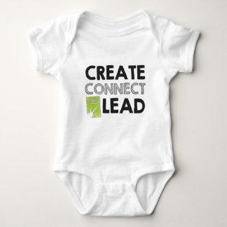 Create Connect Lead (light) Baby Bodysuit