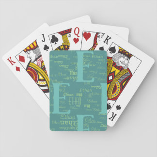 create cool playing cards with your own name