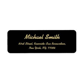 Create Custom Black Golden Elegant Return Address Return Address Label