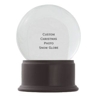 Create Custom Christmas Holidays Photo Snow Globe