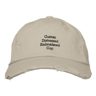 Create Custom Cool Distressed Embroidered Cap/Hat Embroidered Hat