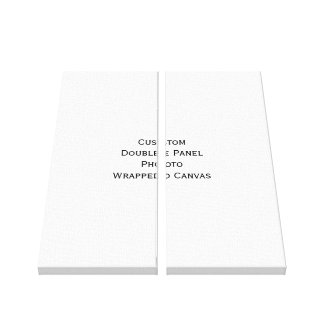 Create Custom Double Panel Photo Wrapped Canvas Gallery Wrapped Canvas