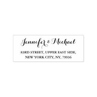 Create Custom Elegant Wedding Return Address Stamp