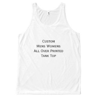 Create Custom Mens Womens All Over Print Tank Top