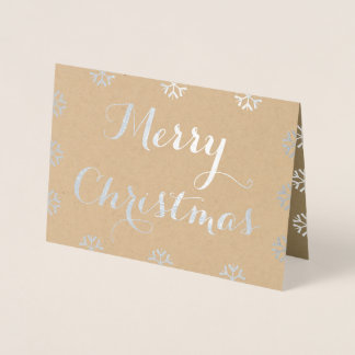 Create Custom Personalized Merry Christmas Holiday Foil Card