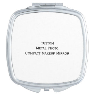 Create Custom Personalized Metal Photo Compact Vanity Mirrors