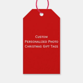 Create Custom Personalized Red Christmas Gift Tags