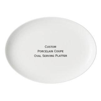 Create Custom Porcelain Coupe Oval Serving Platter